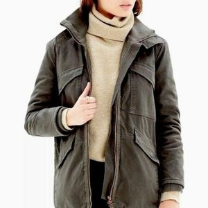 Madewell Modern Military Jacket Olive Cargo Sz XS